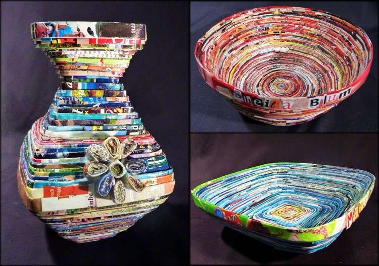 Recycled Magazine Bowls – Julia Sanderl