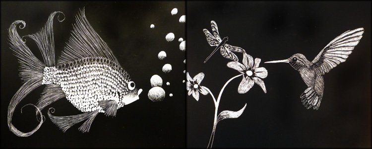 Scratchboard art for kids - photo#9